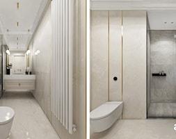 Łazienka w jasnych, ciepłych kolorach - zdjęcie od ARTDESIGN architektura wnętrz - Homebook