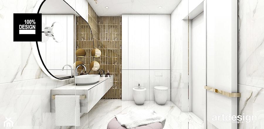 IT IS LIKE OXYGEN | III | Wnętrza domu - Średnia biała łazienka w domu jednorodzinnym bez okna, styl nowoczesny - zdjęcie od ARTDESIGN architektura wnętrz