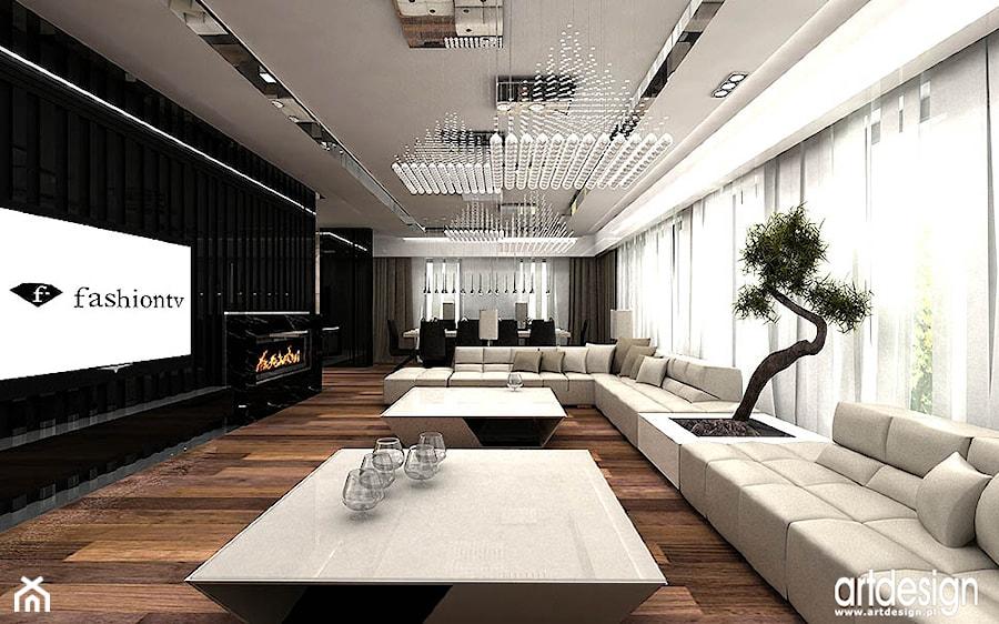 salon nowoczesny projekty wnętrza zdjęcie od artdesign