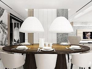 PERFECT MATCH | I | Wnętrza domu - Duża otwarta biała jadalnia jako osobne pomieszczenie, styl nowoczesny - zdjęcie od ARTDESIGN architektura wnętrz