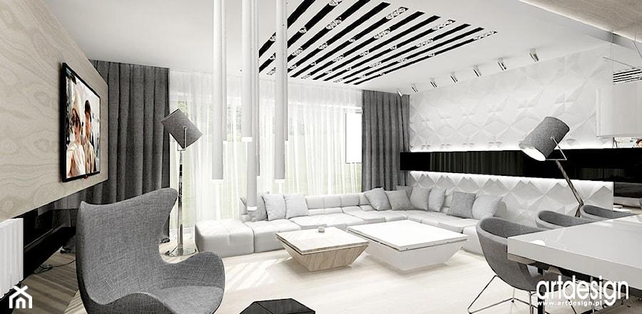 dużynowoczesny salon zdjęcie od artdesign architektura