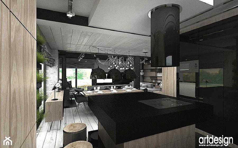 aranżacje kuchni otwartej na jadalnię - zdjęcie od ARTDESIGN architektura wnętrz