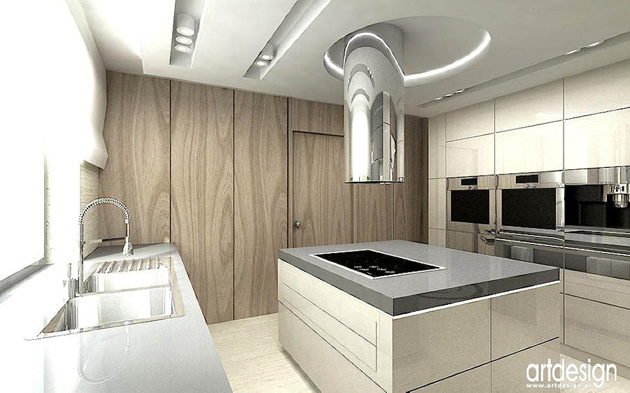 Projekt kuchni z wyspa zdj cie od artdesign architektura for Projekty kuchni z salonem
