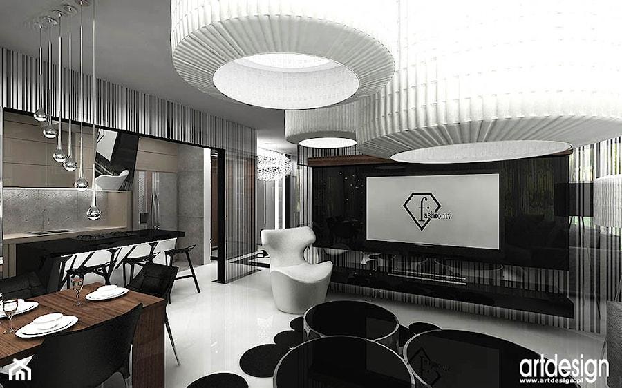 nowoczesny salon w apartamencie - zdjęcie od ARTDESIGN architektura wnętrz