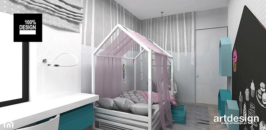 LIKE A DUCK TO WATER | II | Wnętrza domu - Mały szary czarny pokój dziecka dla dziewczynki dla ucznia dla malucha dla nastolatka, styl nowoczesny - zdjęcie od ARTDESIGN architektura wnętrz