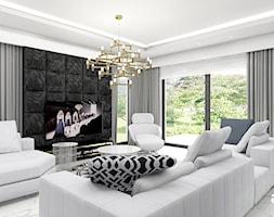 LISTEN TO MY HEARTBEAT | I | Wnętrza domu - Duży salon z barkiem z jadalnią z tarasem / balkonem, styl nowoczesny - zdjęcie od ARTDESIGN architektura wnętrz