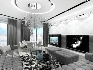 NAKED TRUTH. Wnętrza luksusowego apartamentu.