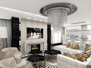 FEMME FATALE | I | Wnętrza apartamentu - Duży biały salon, styl glamour - zdjęcie od ARTDESIGN architektura wnętrz