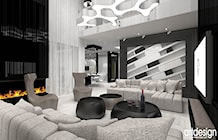 projektowanie wnetrza salonu - zdjęcie od ARTDESIGN architektura wnętrz