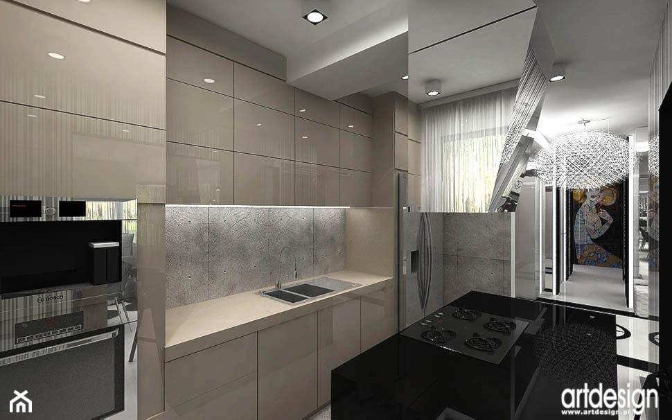 kuchnia w kolorystyce chłodny beż - zdjęcie od ARTDESIGN architektura wnętrz - Homebook