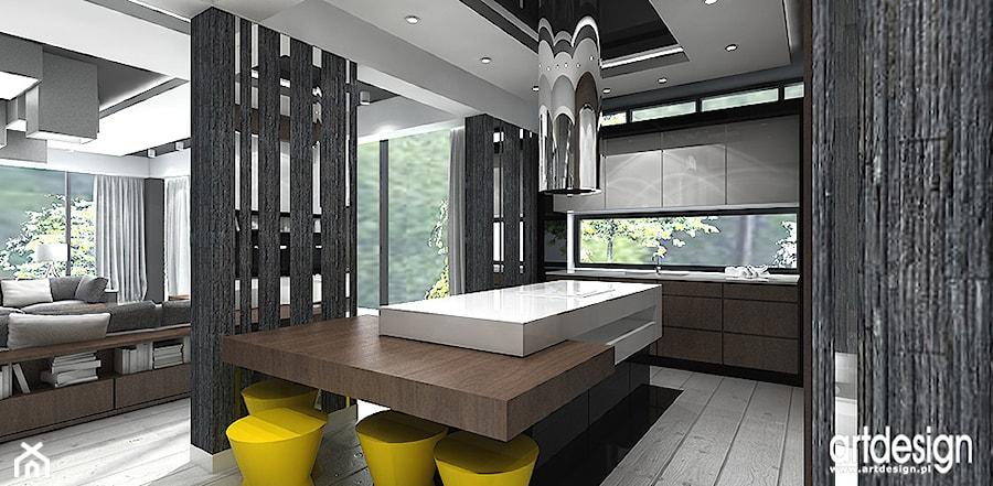 kuchnia otwarta na salon  zdjęcie od ARTDESIGN architektura wnętrz