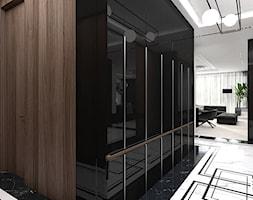 KEEP THE BALL ROLLING | Wnętrza apartamentu - Duży czarny brązowy hol / przedpokój, styl nowoczesny - zdjęcie od ARTDESIGN architektura wnętrz