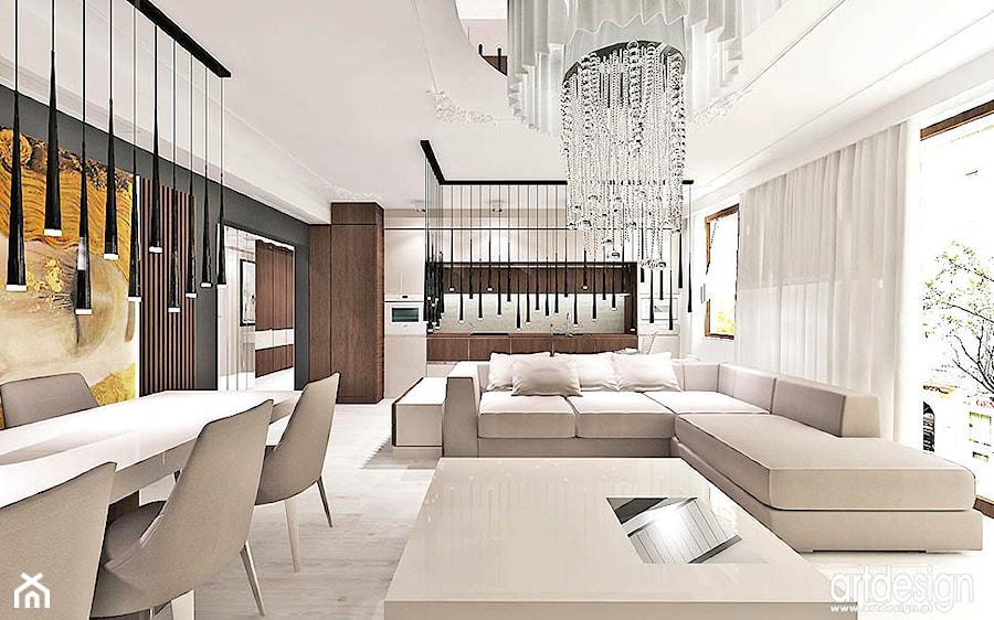 salon styl klasyczny - zdjęcie od ARTDESIGN architektura wnętrz