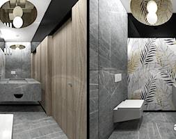 PERFECT MATCH | I | Wnętrza domu - Średnia beżowa szara łazienka bez okna, styl nowoczesny - zdjęcie od ARTDESIGN architektura wnętrz