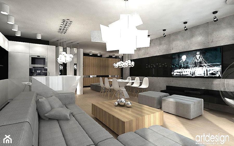 pokój dzienny w nowoczesnym apartamencie - zdjęcie od ARTDESIGN architektura wnętrz