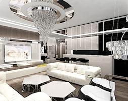 salon z kuchnią - wnętrza - zdjęcie od ARTDESIGN architektura wnętrz