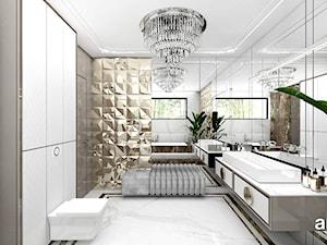 SOTTO VOCE | II | Wnętrza domu - Duża biała beżowa łazienka w domu jednorodzinnym, styl nowoczesny - zdjęcie od ARTDESIGN architektura wnętrz