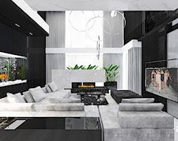 AT THE DROP OF A HAT | Wnętrza domu - Duży czarny salon, styl nowoczesny - zdjęcie od ARTDESIGN architektura wnętrz