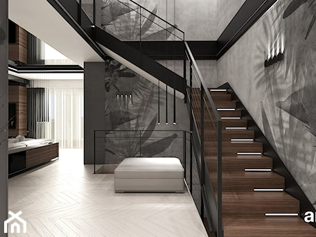 Aranżacje wnętrz - Schody: aranżacja holu i projekt schodów - ARTDESIGN architektura wnętrz. Przeglądaj, dodawaj i zapisuj najlepsze zdjęcia, pomysły i inspiracje designerskie. W bazie mamy już prawie milion fotografii!