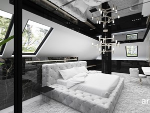 nowoczesna sypialnia na poddaszu - zdjęcie od ARTDESIGN architektura wnętrz