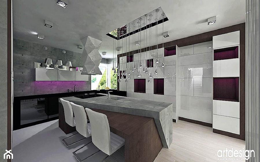 Kuchnie Nowoczesne Wnętrza Projekty Projekt Artdesign
