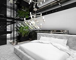 projekt sypialni w bieli i czerni - zdjęcie od ARTDESIGN architektura wnętrz