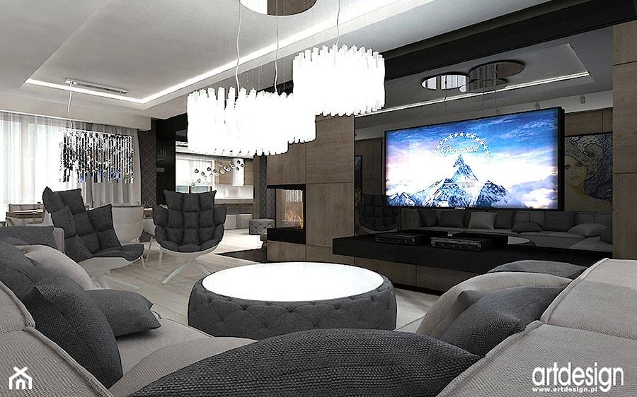 salon nowoczesne wnętrza zdjęcie od artdesign