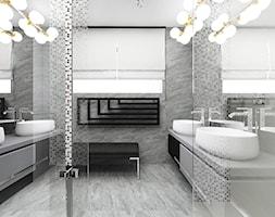 WITH FLYING COLOURS   II   Wnętrza domu - Średnia biała łazienka jako salon kąpielowy z oknem, styl nowoczesny - zdjęcie od ARTDESIGN architektura wnętrz