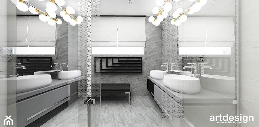 WITH FLYING COLOURS | II | Wnętrza domu - Średnia biała łazienka jako salon kąpielowy z oknem, styl nowoczesny - zdjęcie od ARTDESIGN architektura wnętrz