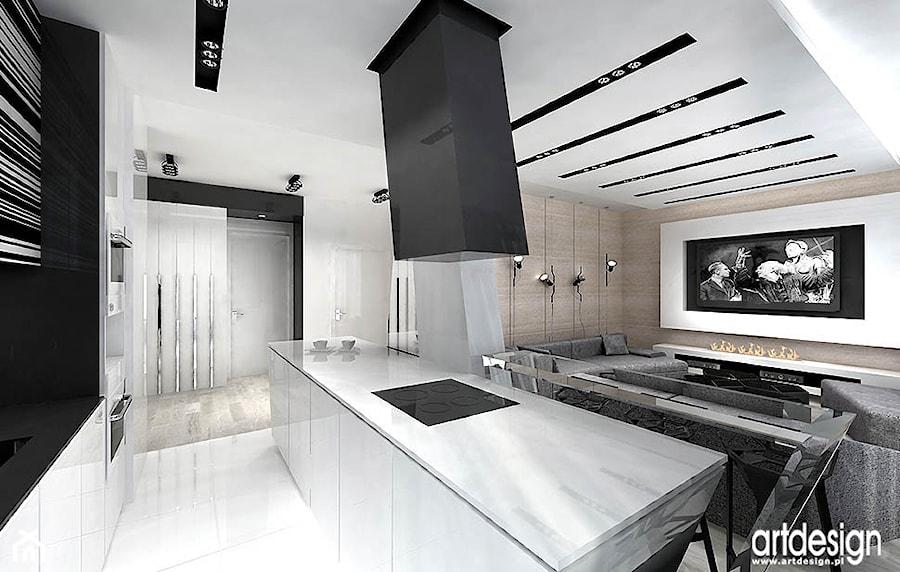 kuchnia połączona z salonem  zdjęcie od ARTDESIGN architektura wnętrz -> Kuchnia Z Wyspą Polączona Z Salonem