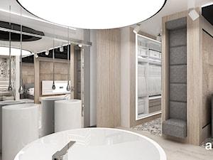Projekt sypialni połączonej z pokojem kąpielowym - zdjęcie od ARTDESIGN architektura wnętrz