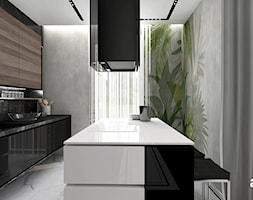 KEEP THE BALL ROLLING | Wnętrza apartamentu - Duża zamknięta kolorowa kuchnia jednorzędowa w aneksie z wyspą z oknem, styl nowoczesny - zdjęcie od ARTDESIGN architektura wnętrz