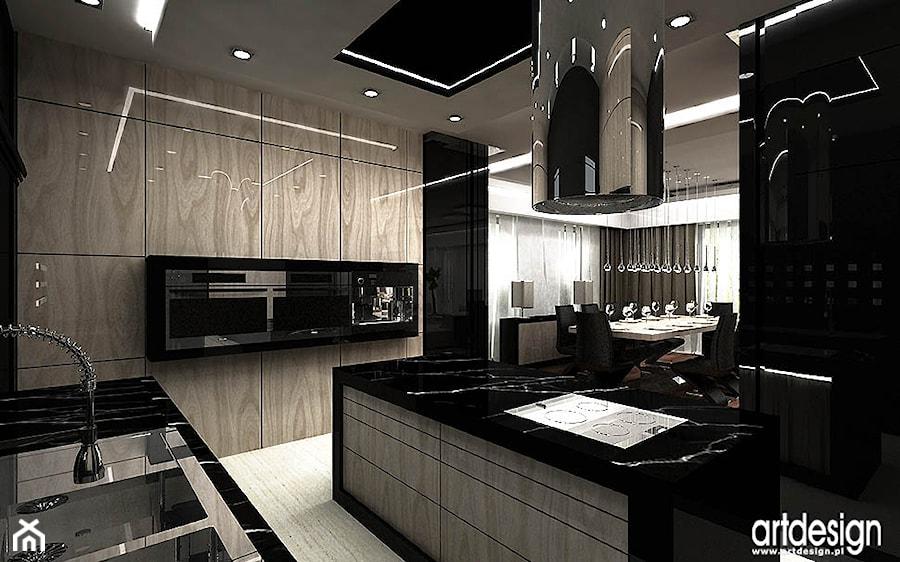 projektowanie kuchni z wyspa  zdjęcie od ARTDESIGN architektura wnętrz -> Kuchnia Art Design