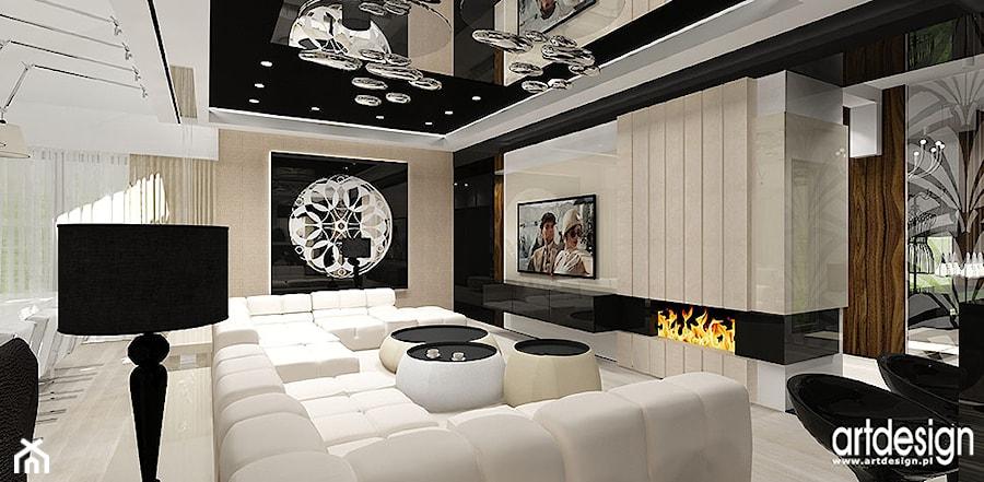 salon z kominkiem - zdjęcie od ARTDESIGN architektura wnętrz