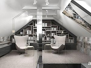 TOUGH NUT TO CRACK | Sypialnia i łazienka - Średnie szare biuro pracownia na poddaszu, styl nowoczesny - zdjęcie od ARTDESIGN architektura wnętrz