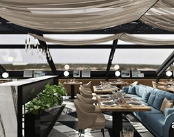 Jasne wnętrze pełne słońca - restauracja - zdjęcie od ARTDESIGN architektura wnętrz - Homebook