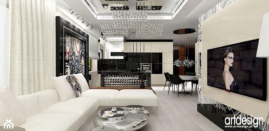 Kuchnia Otwarta Na Salon Projekty Zdjęcie Od Artdesign