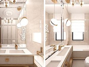 łazienka w beżach i złocie - zdjęcie od ARTDESIGN architektura wnętrz