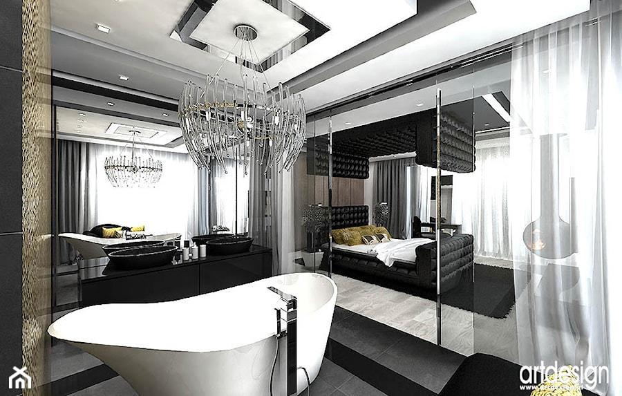 łazienka połączona z sypialnią - wnętrza - zdjęcie od ARTDESIGN architektura wnętrz - homebook