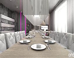 nowoczesna jadalnia w rezydencji - zdjęcie od ARTDESIGN architektura wnętrz