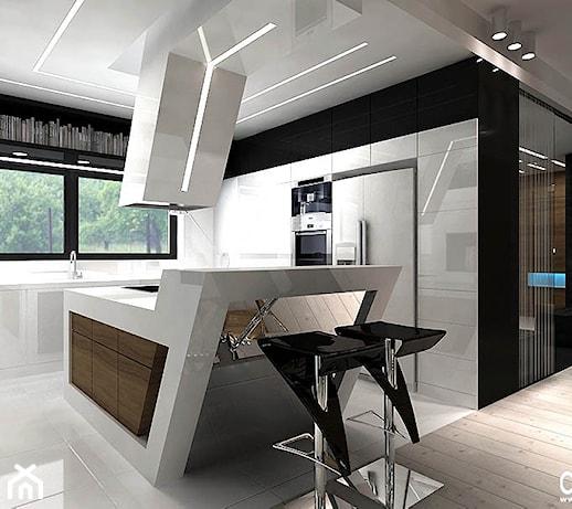 nowoczesna biała kuchnia  zdjęcie od ARTDESIGN architektura wnętrz
