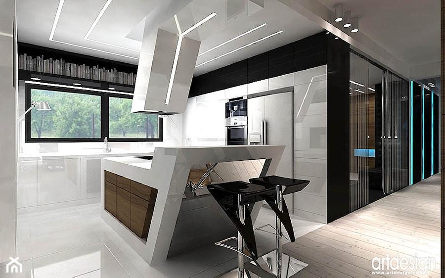 nowoczesna biała kuchnia  zdjęcie od ARTDESIGN architektura wnętrz -> Kuchnia Art Design
