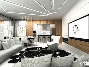nowoczesny salon - aranżacja