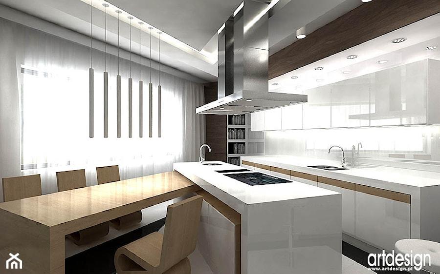 biała kuchnia - projekty - zdjęcie od ARTDESIGN architektura wnętrz