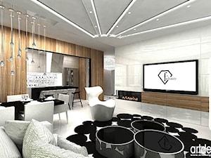 projektowanie wnętrza nowoczesnego salonu
