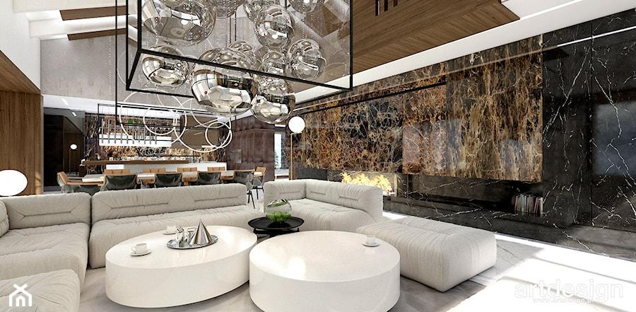 luksusowy salon w stylu nowoczesnym - zdjęcie od ARTDESIGN architektura wnętrz
