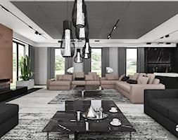 Salon w dużym parterowym domu - zdjęcie od ARTDESIGN architektura wnętrz - Homebook