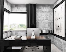 THE ONLY GAME IN TOWN | II | Wnętrza domu - Małe szare biuro pracownia kącik do pracy, styl nowoczesny - zdjęcie od ARTDESIGN architektura wnętrz
