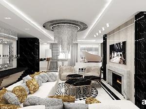 FEMME FATALE   I   Wnętrza apartamentu - Duży salon, styl glamour - zdjęcie od ARTDESIGN architektura wnętrz