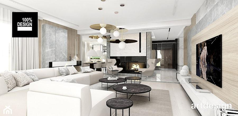PERFECT MATCH | I | Wnętrza domu - Duży szary salon, styl nowoczesny - zdjęcie od ARTDESIGN architektura wnętrz